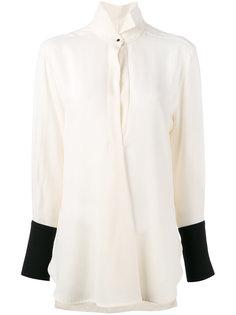 блузка с контрастными манжетами Petar Petrov