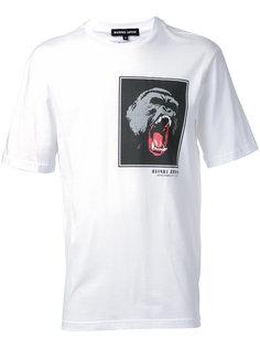футболка с принтом гориллы Markus Lupfer