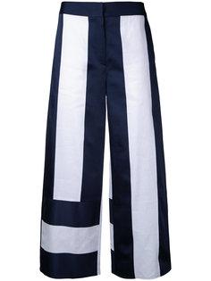 укороченные двухцветные брюки-палаццо Goen.J