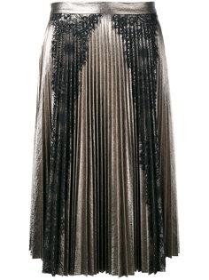 Плиссированная юбка с кружевными вставками Ainea