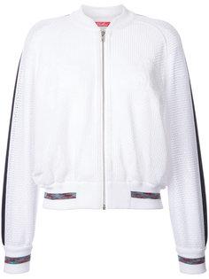 куртка-бомбер с открытой вышивкой Coohem