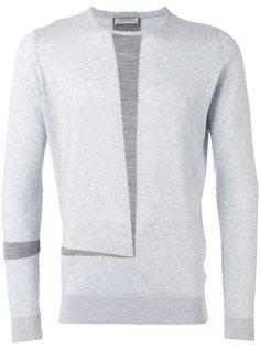свитер с контрастными полосками John Smedley