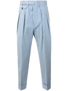 укороченные полосатые брюки Wooster + Lardini