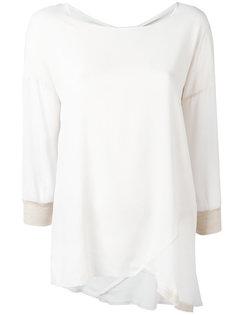 асимметричная блузка с декоративными швами Kristensen Du Nord