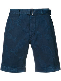 pineapple print denim shorts Officine Generale