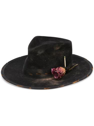 фетровая шляпа с розой Nick Fouquet