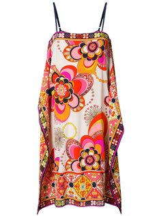 свободное платье с цветочным принтом Trina Turk