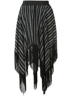 asymmetric fringed skirt  Preen By Thornton Bregazzi