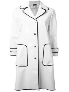 пальто с контрастной окантовкой Twin-Set