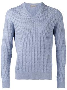 фактурный свитер с V-образным вырезом Canali