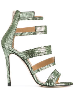 metallic strappy sandals Marc Ellis