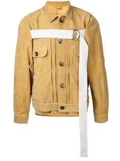 куртка на пуговицах с контрастной лямкой Maison Mihara Yasuhiro
