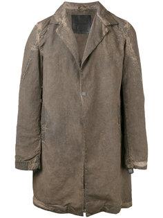 пальто миди с потертым эффектом 10Sei0otto