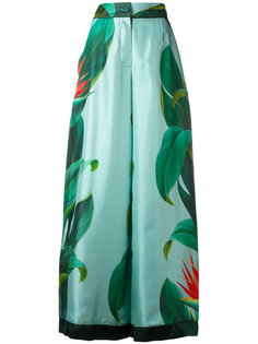 брюки-палаццо с цветочным принтом F.R.S For Restless Sleepers