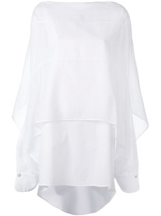 двухслойное платье-рубашка  Balossa White Shirt