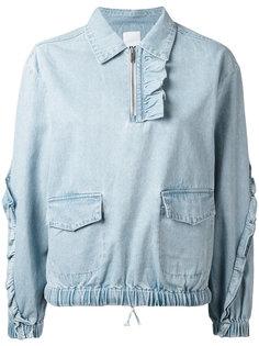 frill denim blouse Steve J & Yoni P