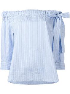 striped off shoulder blouse  Lareida