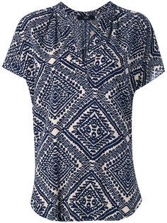 блузка с V-образным вырезом и орнаментом Steffen Schraut