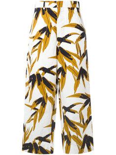 брюки с рисунком Swash Marni