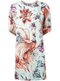 платье с цветочным рисунком Fausto Puglisi