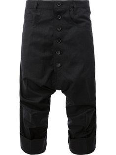 брюки с заниженным шаговым швом Christopher Nemeth