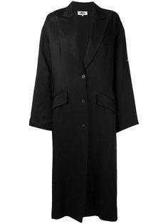 пальто шифт с заостренными лацканами Mm6 Maison Margiela