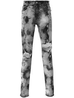 узкие джинсы с прорезами Amiri