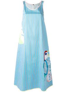 полосатое платье с вырезными деталями Mira Mikati