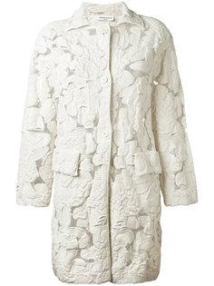 пальто миди с полупрозрачной отделкой Sonia Rykiel