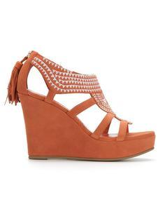 embroidered platform sandals Sarah Chofakian
