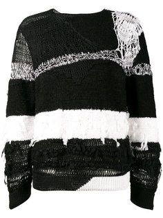 рваный полосатый свитер Ann Demeulemeester