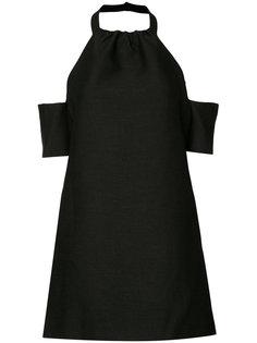 короткое платье с открытыми плечами C/Meo