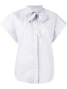 рубашка с рукавами-кап и бантом Mm6 Maison Margiela