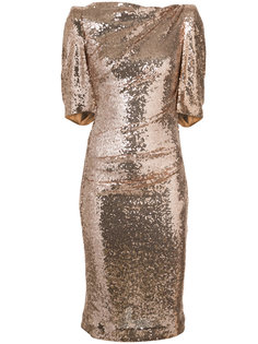 metallic fitted dress Talbot Runhof