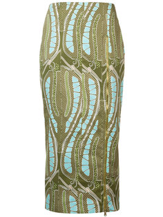 leaf print fitted skirt Sophie Theallet