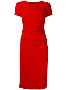 приталенное платье с короткими рукавами Norma Kamali