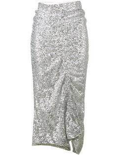 асимметричная юбка с пайетками Preen By Thornton Bregazzi