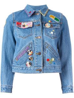 джинсовая куртка с вышивкой Marc Jacobs