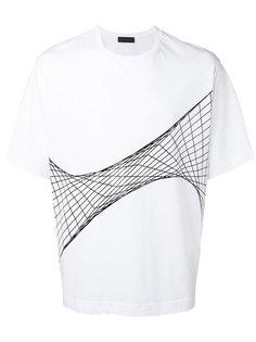 футболка с сетчатым принтом Diesel Black Gold