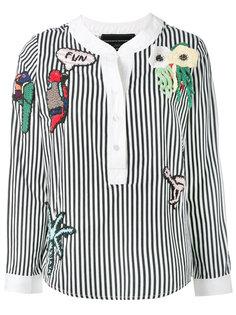 полосатая декорированная блузка Michaela Buerger