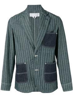 striped denim pocket blazer Ganryu Comme Des Garcons