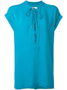 блузка с завязками на горловине Michael Michael Kors
