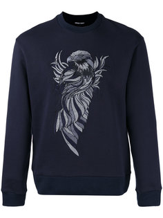 embroidered eagle sweatshirt Emporio Armani