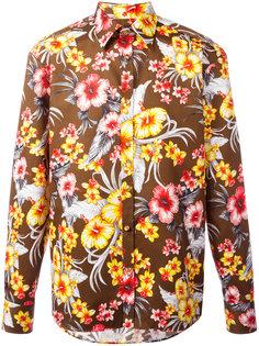 рубашка с цветочным принтом Fausto Puglisi