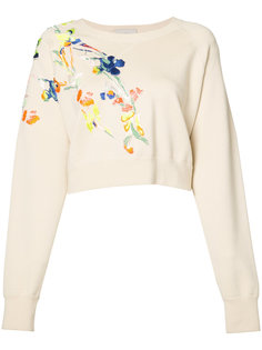 embroidered flowers sweatshirt  Jason Wu