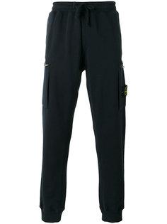 спортивные брюки с эластичными манжетами Stone Island