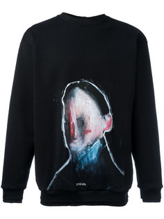 painted design sweatshirt Icosae