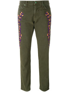 embroidered slim-fit trousers Sandrine Rose