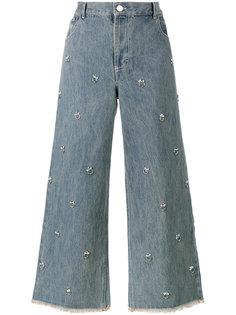 джинсы с украшением из кристаллов Swarovksi  Sandy Liang