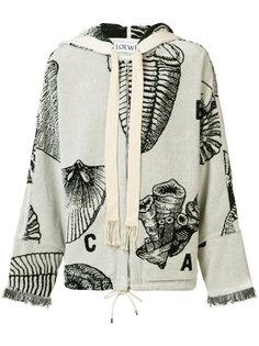 shell pattern zipper hoodie Loewe